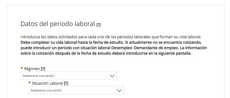 Introduce tu periodo laboral